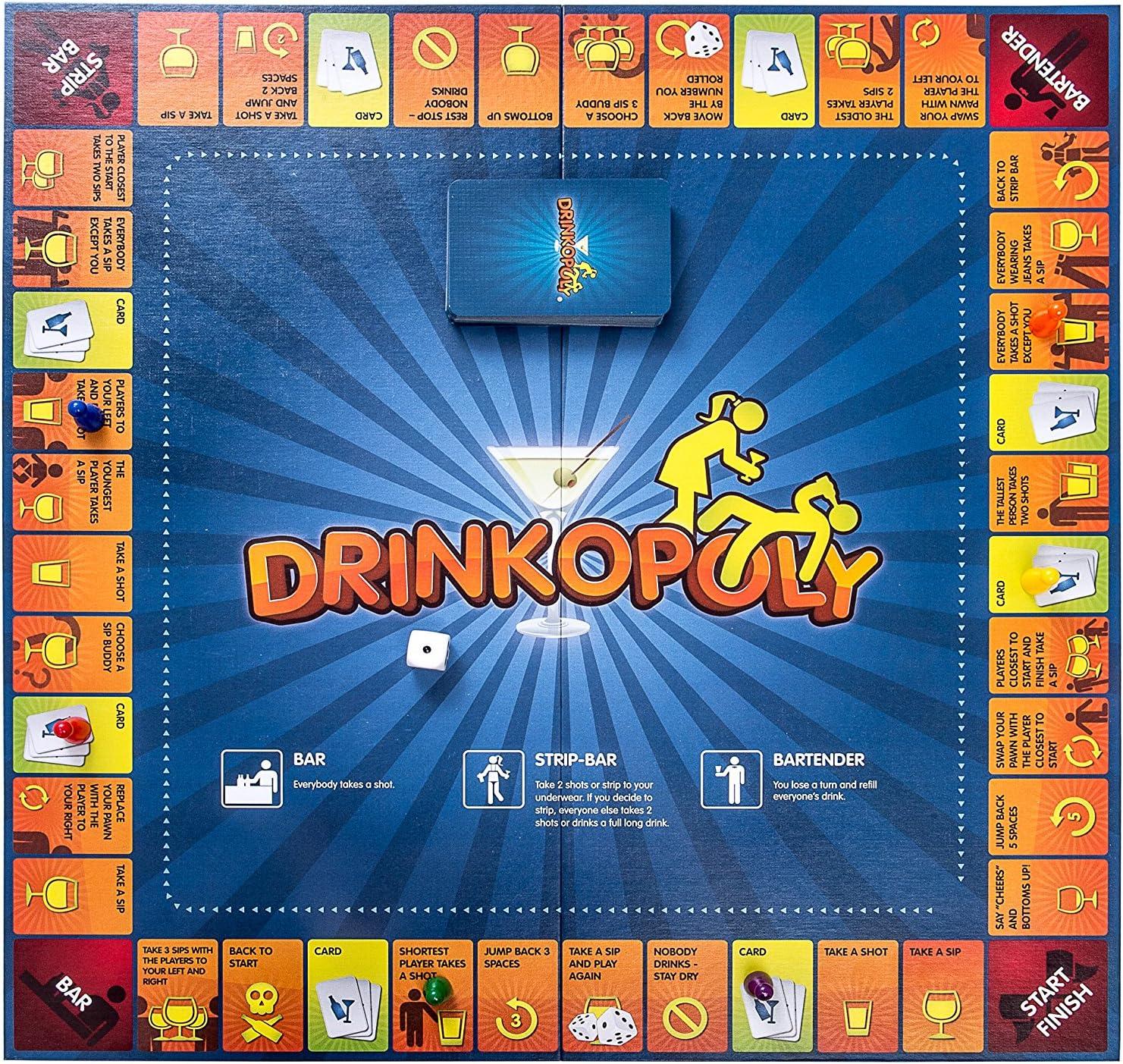 Drinkopoly Board Game-adulte fête jeu-drinking game drinkopoly CRZ497019