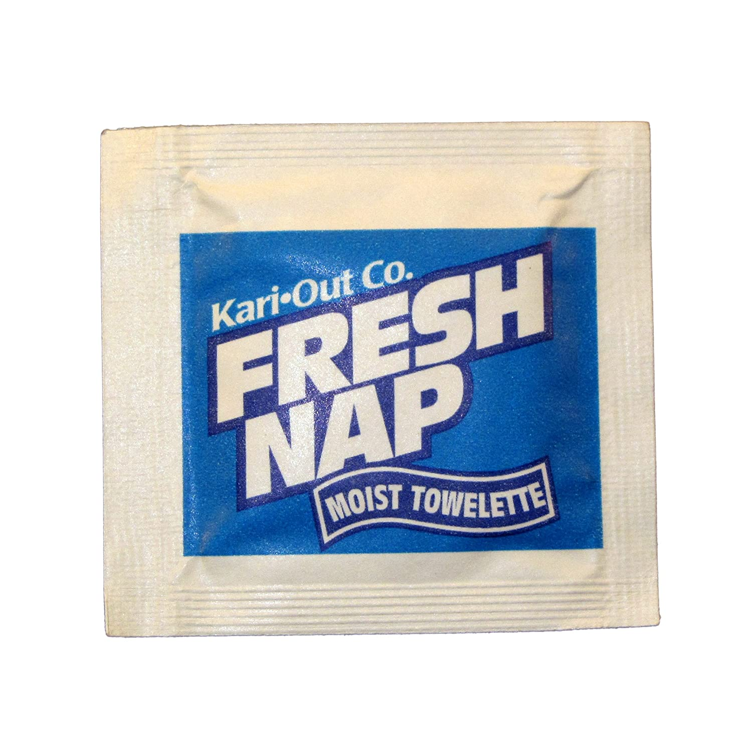 "Specialty Quality Packaging 6700305 Fresh Nap Moist Towelettes Lemon Fragrance, 28"", Blue, 1000 Sep (Pack of 1000)"