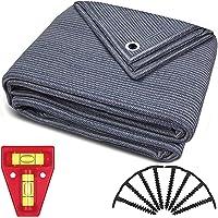 smartpeas Voortenttapijt - tapijt blauw/grijs van polyethyleen (HDPE) met roestvrijstalen oogjes robuust en wasbaar…