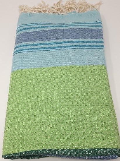 Fouta toalla de playa toalla de baño pareo toalla Hammam – Manta algodón nido de abeja