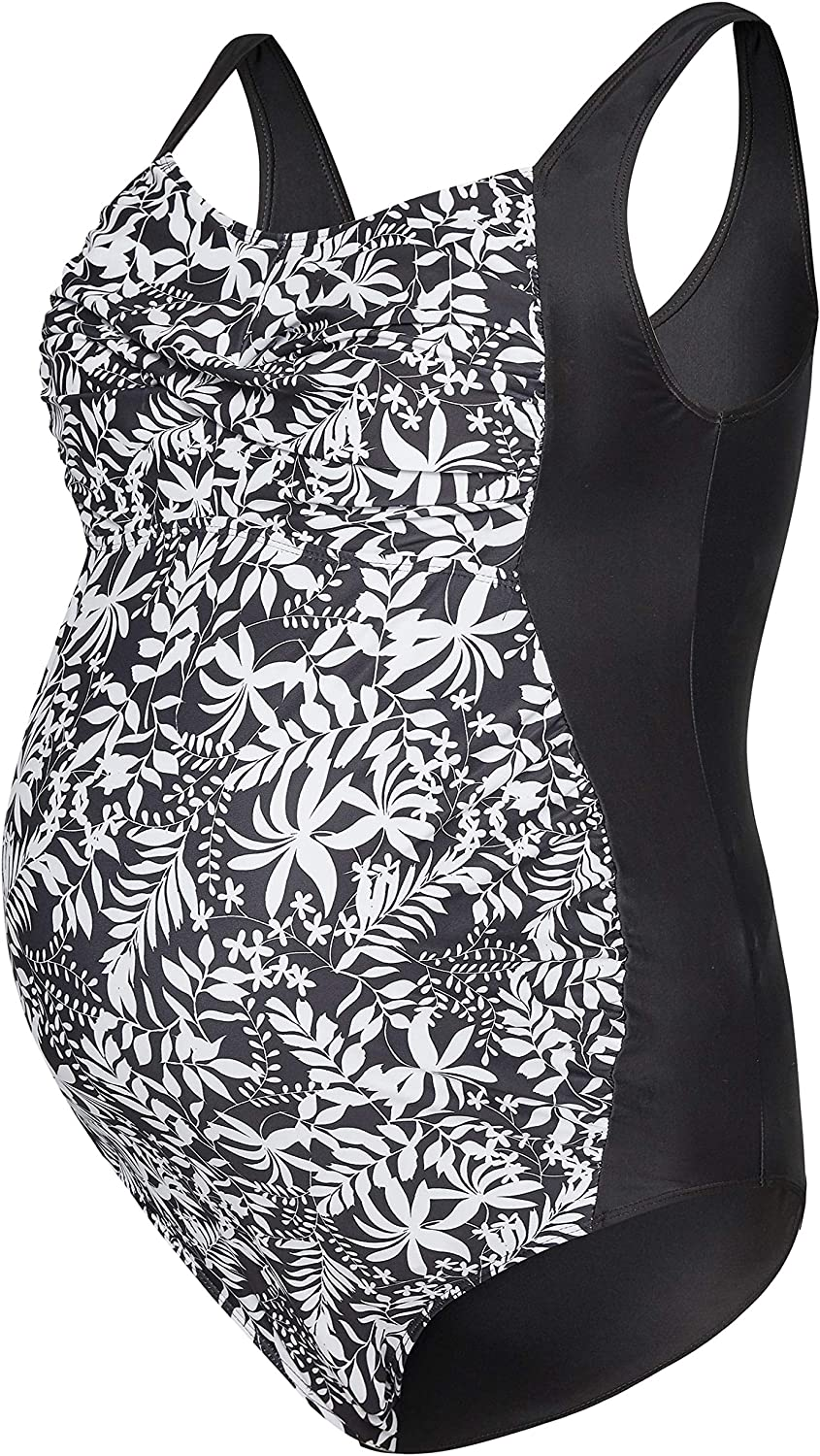 Yours Clothing Womens Bump IT UP Maternity Floral Ruched Swimsuit