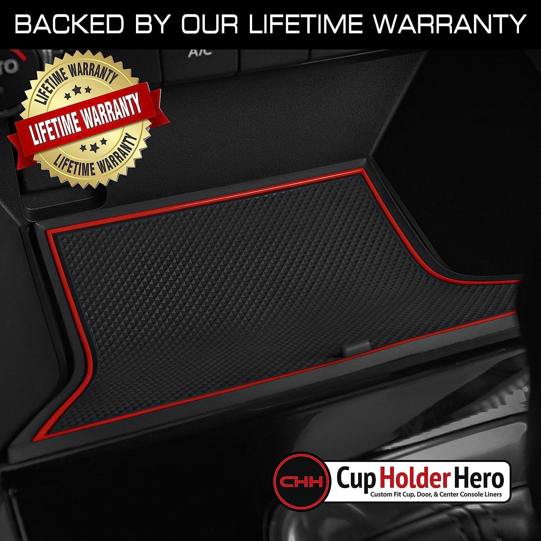 CupHolderHero for Mazda CX-5 Accessories 2017-2021 Premium Custom Interior Non-Slip Anti Dust Cup Holder Inserts Center Console Liner Mats Door Pocket Liners 17-pc Set Solid Black