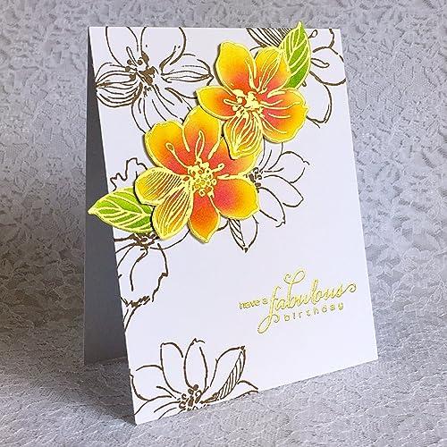 Amazon Handmade Birthday Card Fabulous Birthday With Hibiscus