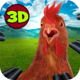 Crazy city Chicken Simulator 3D: Crime City Chicken Escape | Crazy City Hen Simulator Bird Survival Chicken Road: Big City Stories