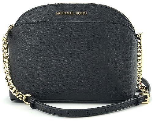 9ea2a738881d MICHAEL Michael Kors Emmy Medium Crossbody Leather Handbag (Black/gold):  Amazon.ca: Shoes & Handbags