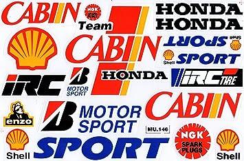 Sponsoren Rennsport Tuning Racing Aufkleber Sticker Bogen
