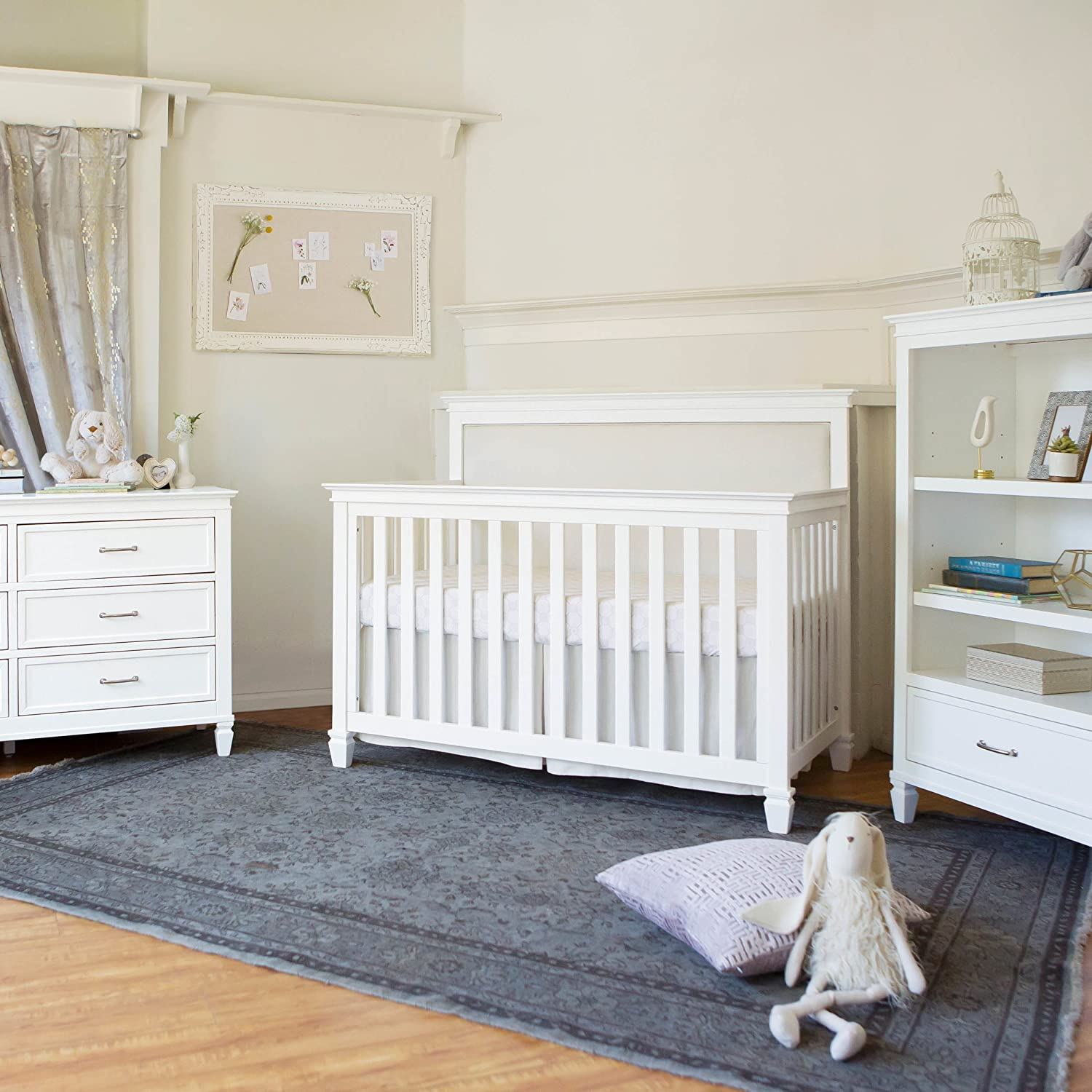 Million Dollar Baby Darlington 4-in-1 Convertible Crib, Warm White