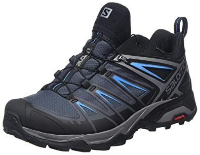 Herren Ultra 3 GTX Trekking-& Wanderhalbschuhe, Schwarz (Black/India Ink/Hawaiian Surf), 45 1/3 EU Salomon