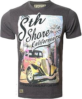 Mens T-Shirt by South Shore Short Sleeved Print T-shirt Tee Top COAST S-XXL