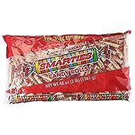 Smarties Assorted Flavor Candy Rolls 3 Pound Value Bag 180 Pieces Per Bag