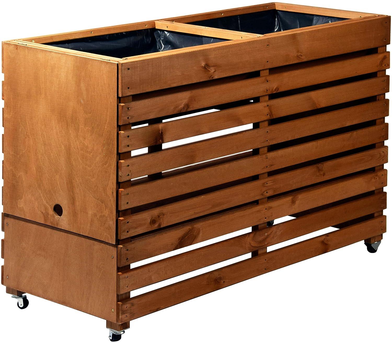 Dobar Rollbares Xxl Hochbeet Aus Holz Mit Boden Frühbeet Bausatz