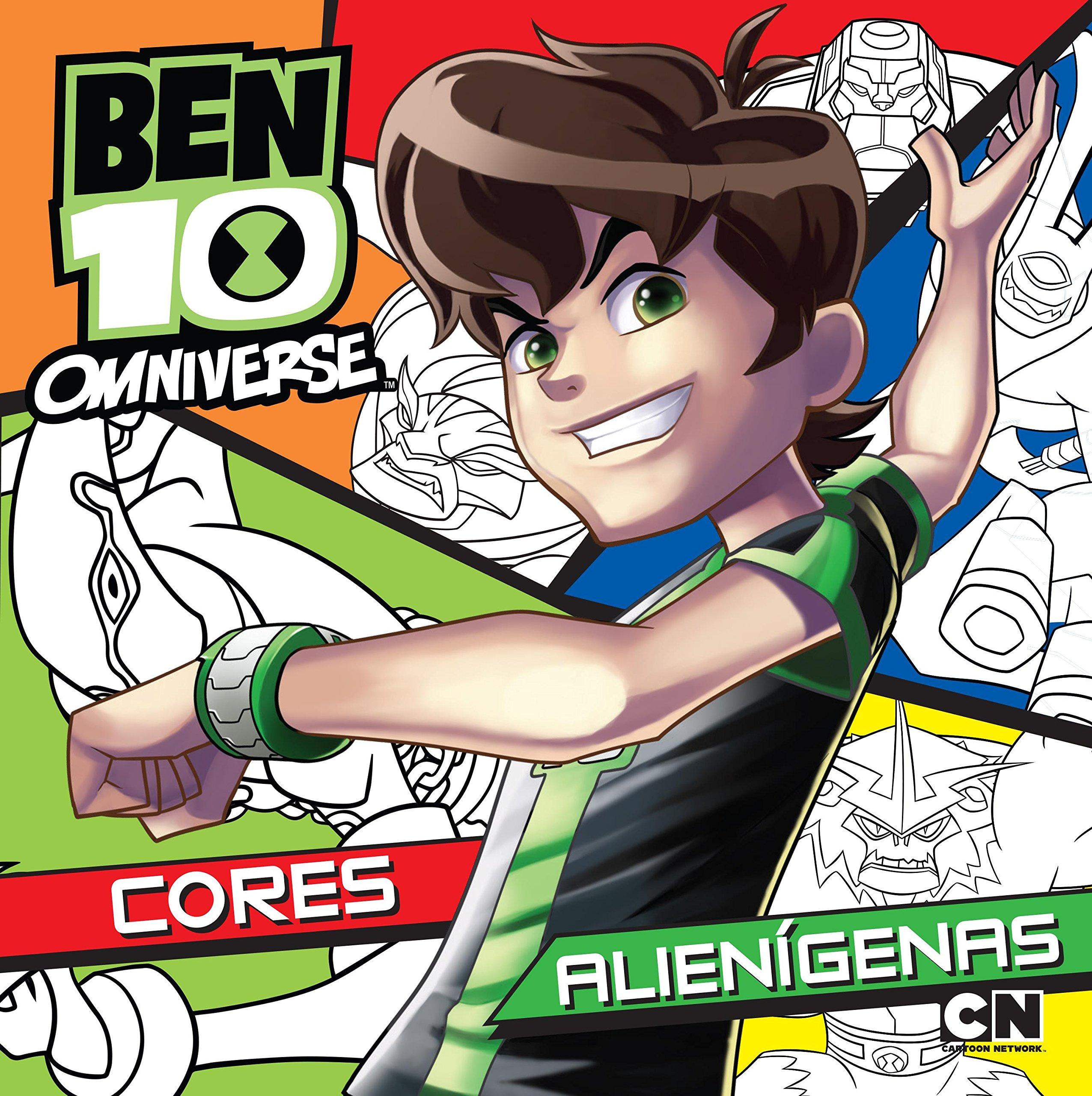 Ben 10 Omniverse Cores Alien Genas Livro De Colorir Ciranda