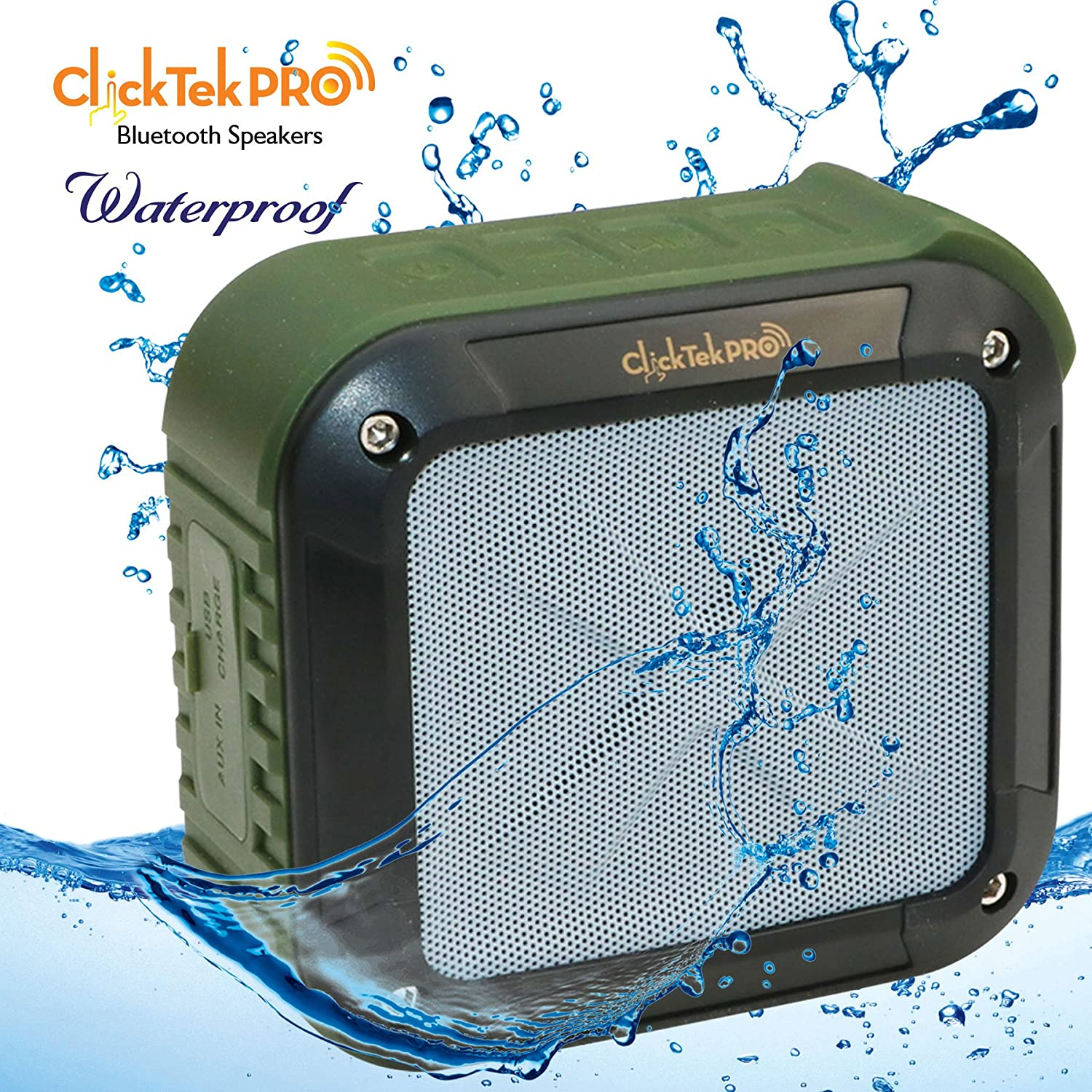 Wireless Bluetooth Speakers - Best Portable Speakers - Waterproof, Dust  Proof, Shock proof - For Home, Shower, Car, Traveling, Beach - Pairs with