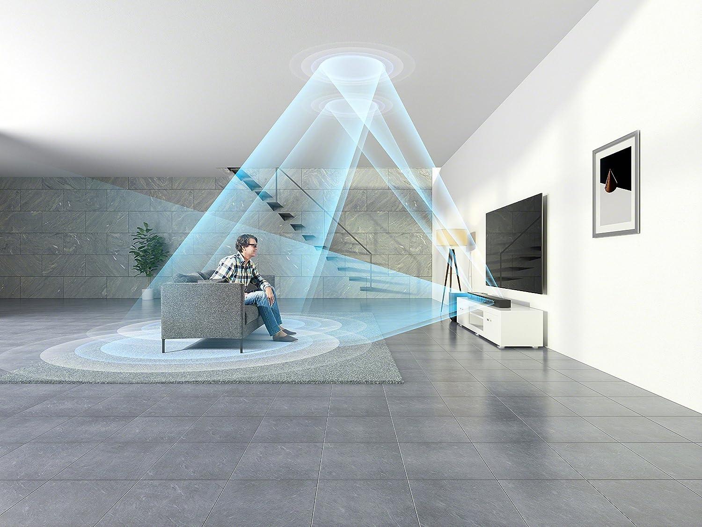 Sony HT-ST5000: soundbar con riflessione delle onde sonore sul soffitto