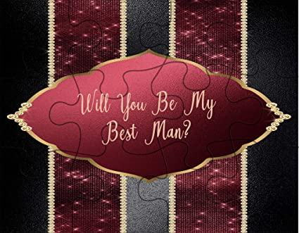 amazon com jigsaw puzzle will you be my best man purple banner