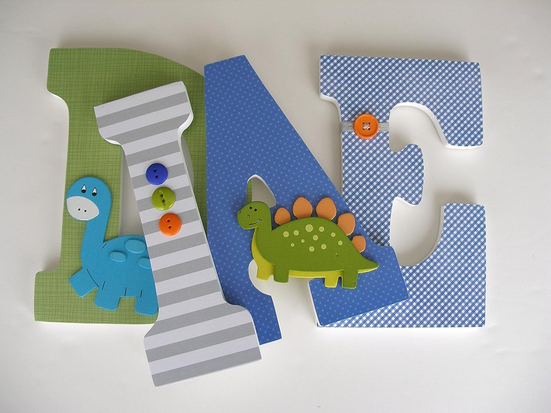 Dinosaur Nursery Letters Dinosaur Wall Art Dinosaur Nursery Decor Wooden Letters for Nursery Hand Painted Wood Letters Dinosaur Decor