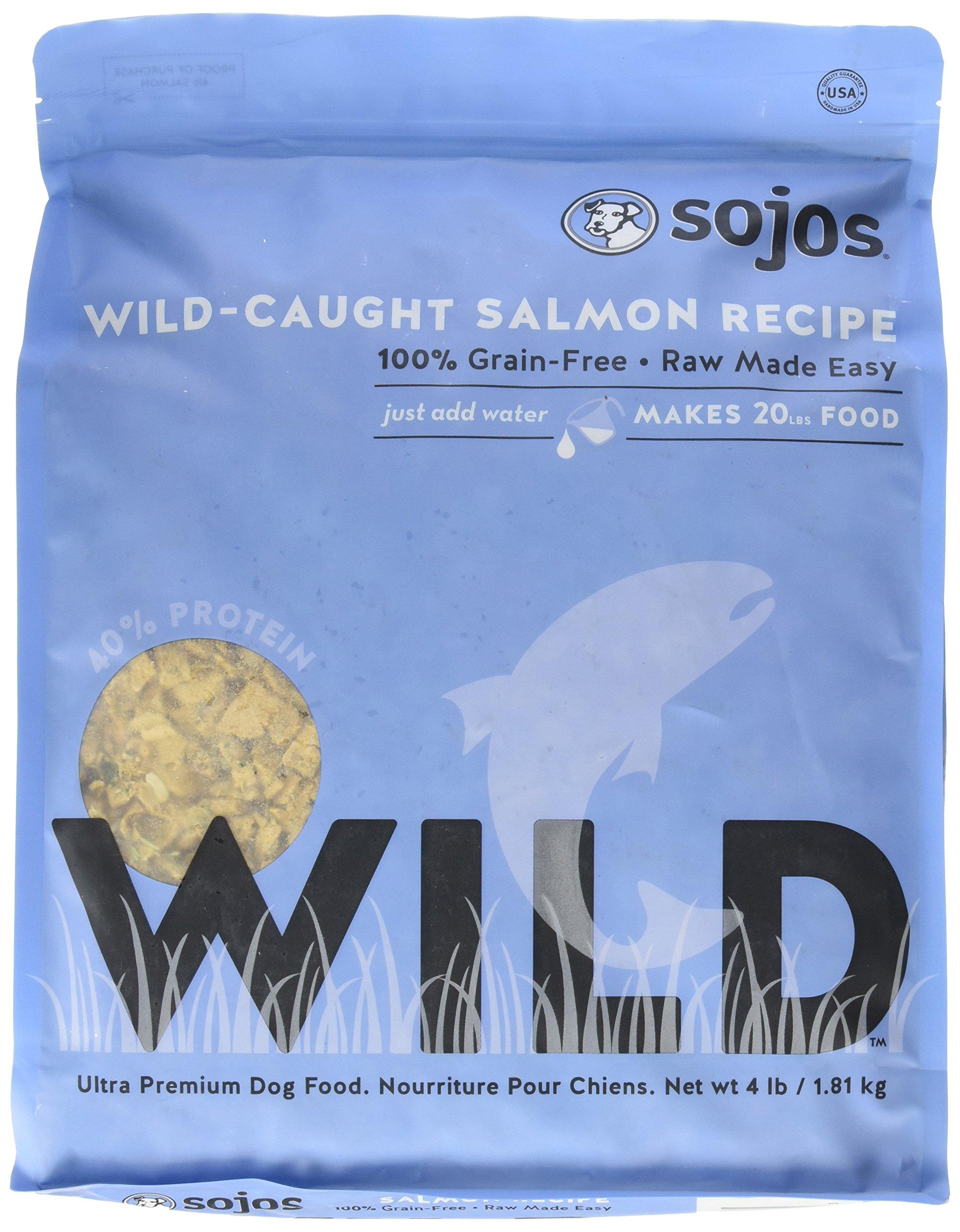 Sojos Wild-Caught Dog Food Salmon 4 lbs