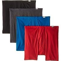 Hanes Men's 4-Pack FreshIQ ComfortSoft Extended Sizes Boxer Briefs
