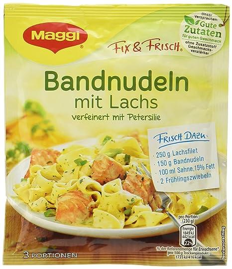 Maggi Fix banda Pasta con salmón, 36 unidades (36 x 200 ...