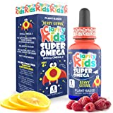 Super Omega for Kids (1 fl oz) with Vegan DHA + EPA that Tastes Great, Omega 3 Kids Need for More Focus & Quality Sleep…