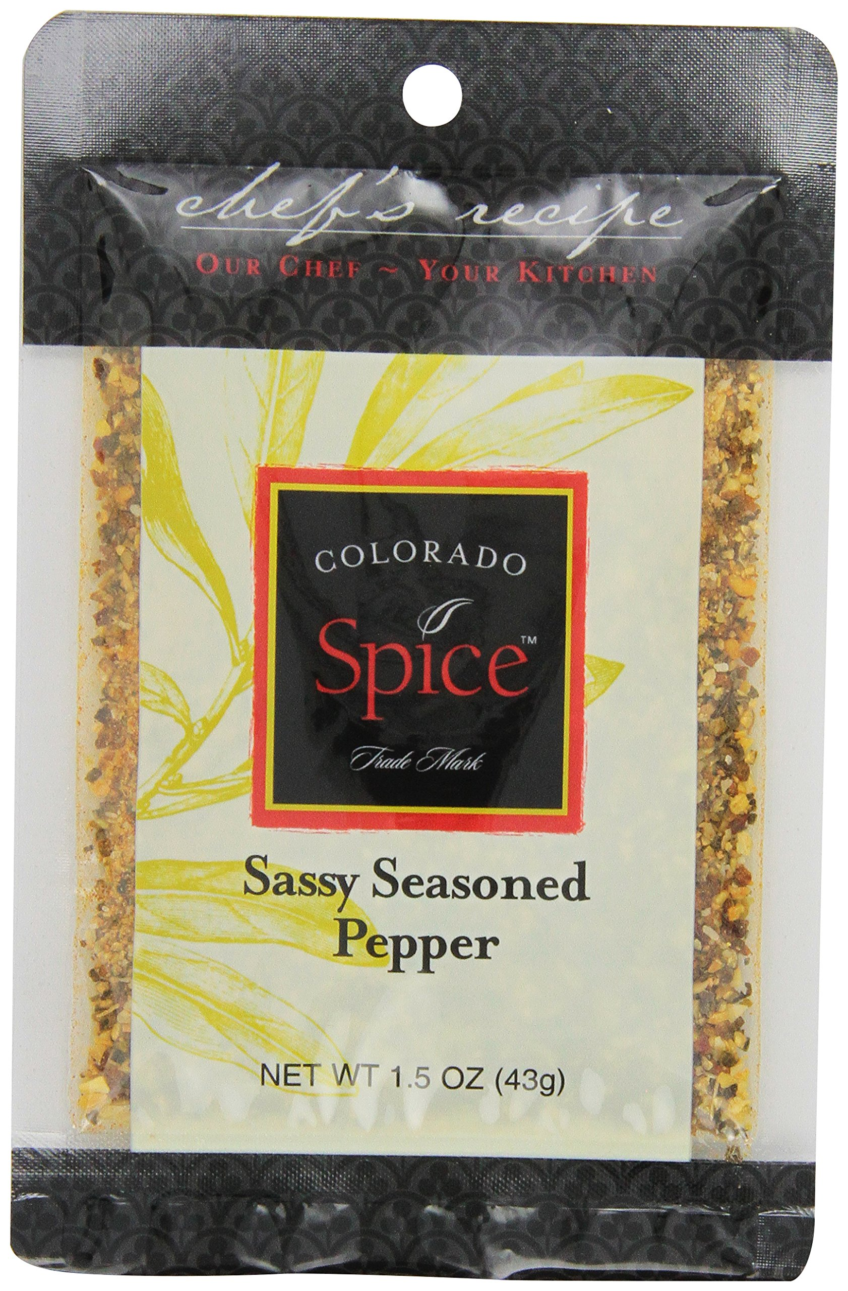 Colorado Spice Company, Seafood Spice, Sassy Seasoned Pepper for Mahi, 1.5-Ounce Packet  (Pack of 12)