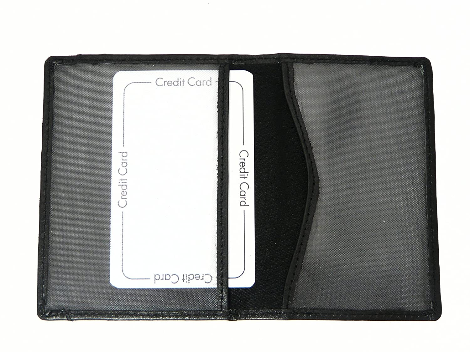Genuine Leather Travel Pass / Oyster / Credit Card Holder Wallet - BLACK Color