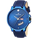 Decode DC899 Blue Exquisite Collection Leather Strap Wrist Watch for Men