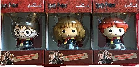 HARRY POTTER Juego de 3 Distintivo, Ron Weasley y Hermione Granger de Adornos de Navidad