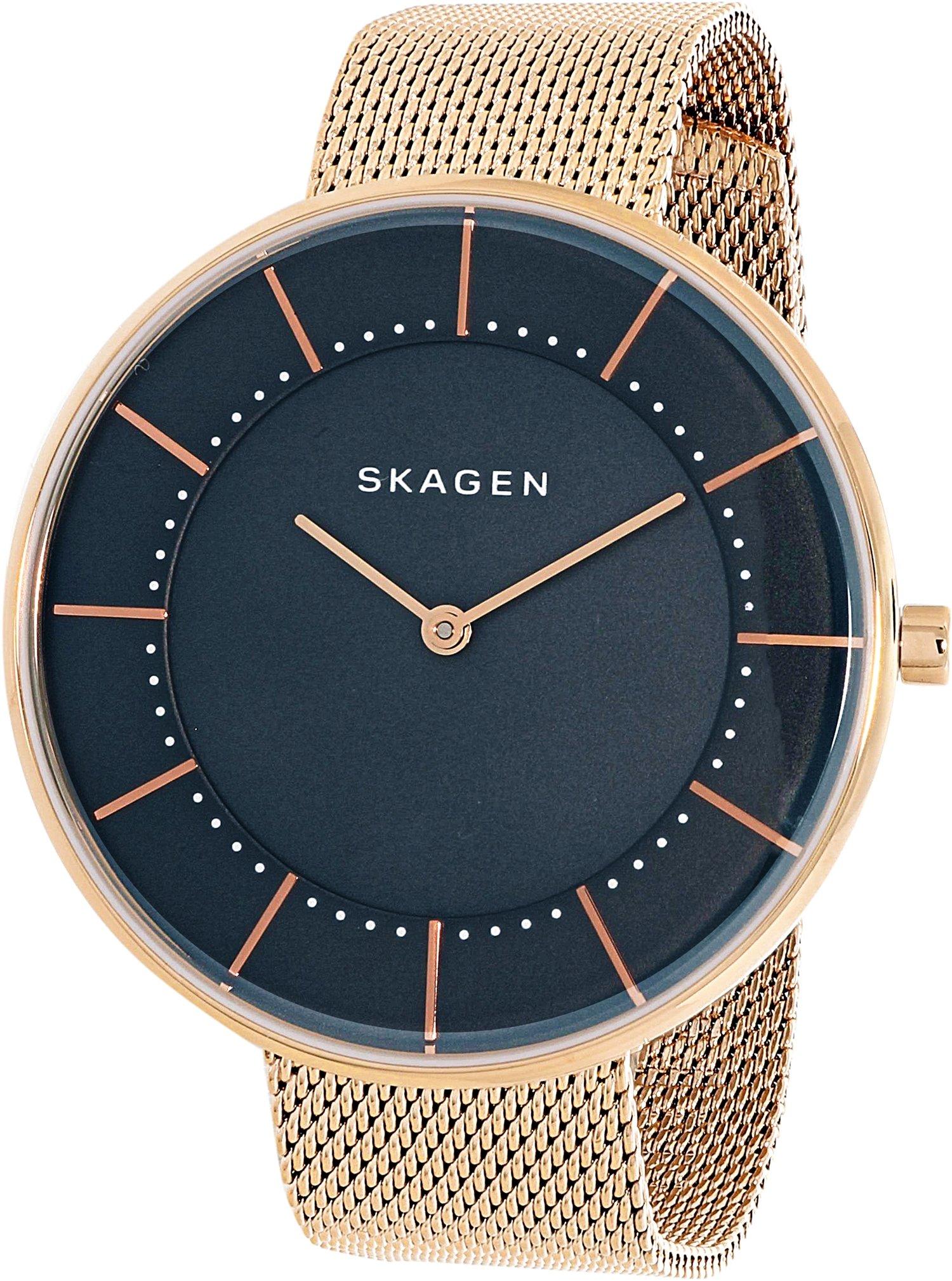 Skagen  Women's  SKW1089 Gitte Steel-Mesh Watch and Agnethe Necklace Box Set