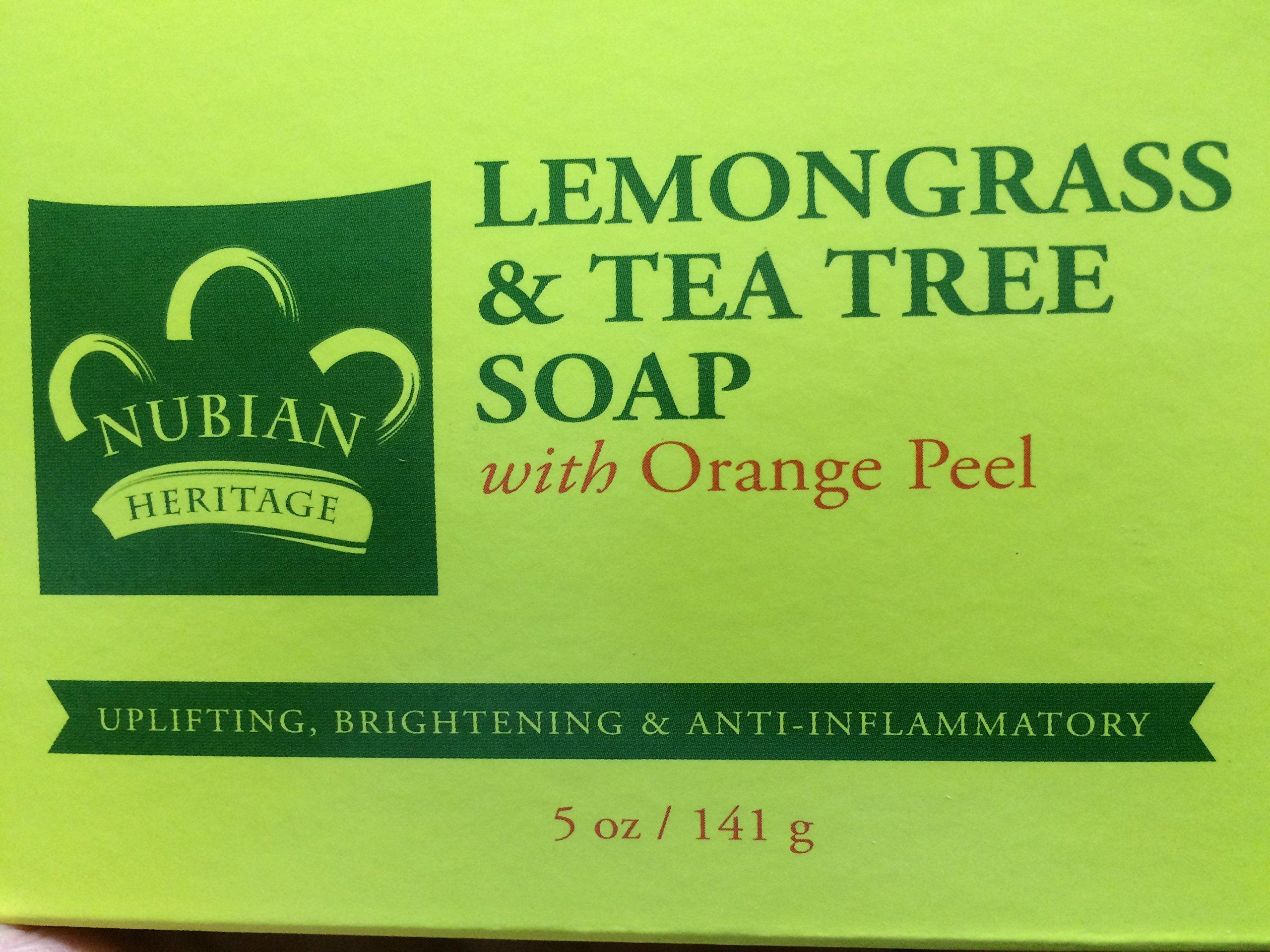 Lemongrass & Tea Tree Soap with Orange Peel 5 oz. (72) Bars by NUBIAN HERITAGE