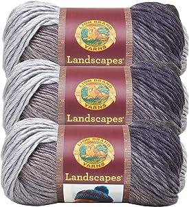 (3 Pack) Lion Brand Yarn 545-206 Landscapes Yarn, Metropolis