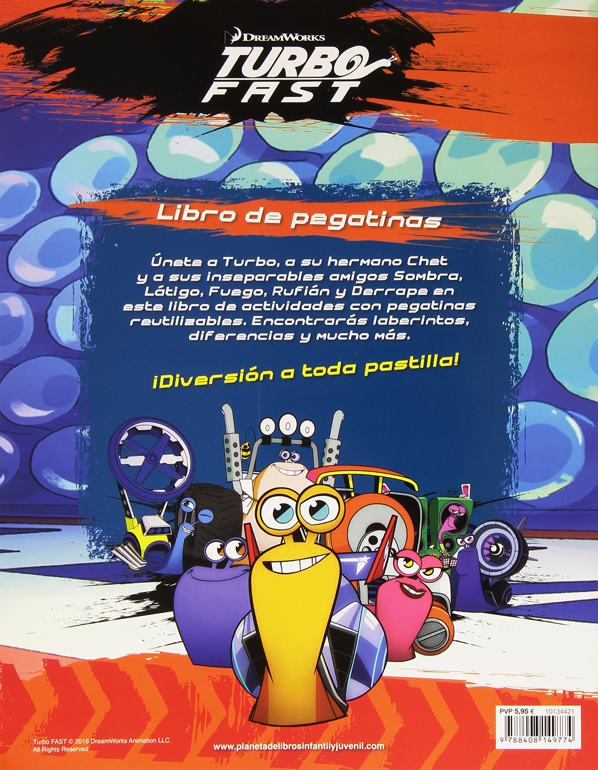 Turbo Fast. Libro de pegatinas: Dreamworks: 9788408149774: Amazon.com: Books