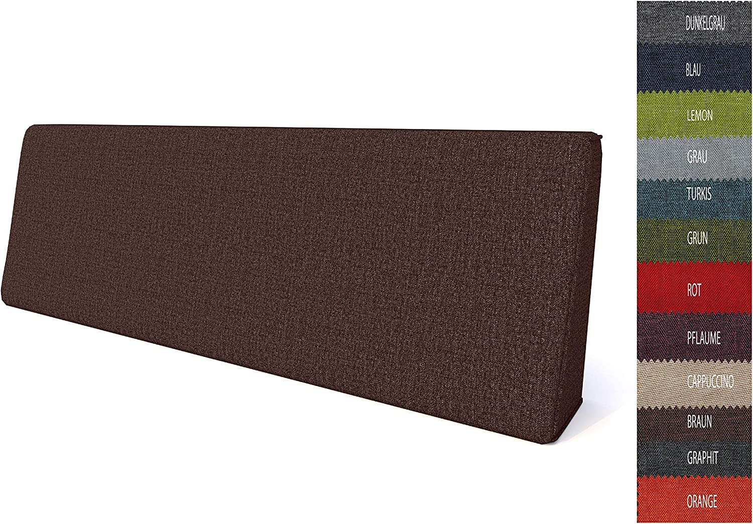 Pillows24 Pallet Cushions Set of 2 Pallet Cushions for Euro Pallets Pallet Cushions Indoor and Outdoor Available Made in EU