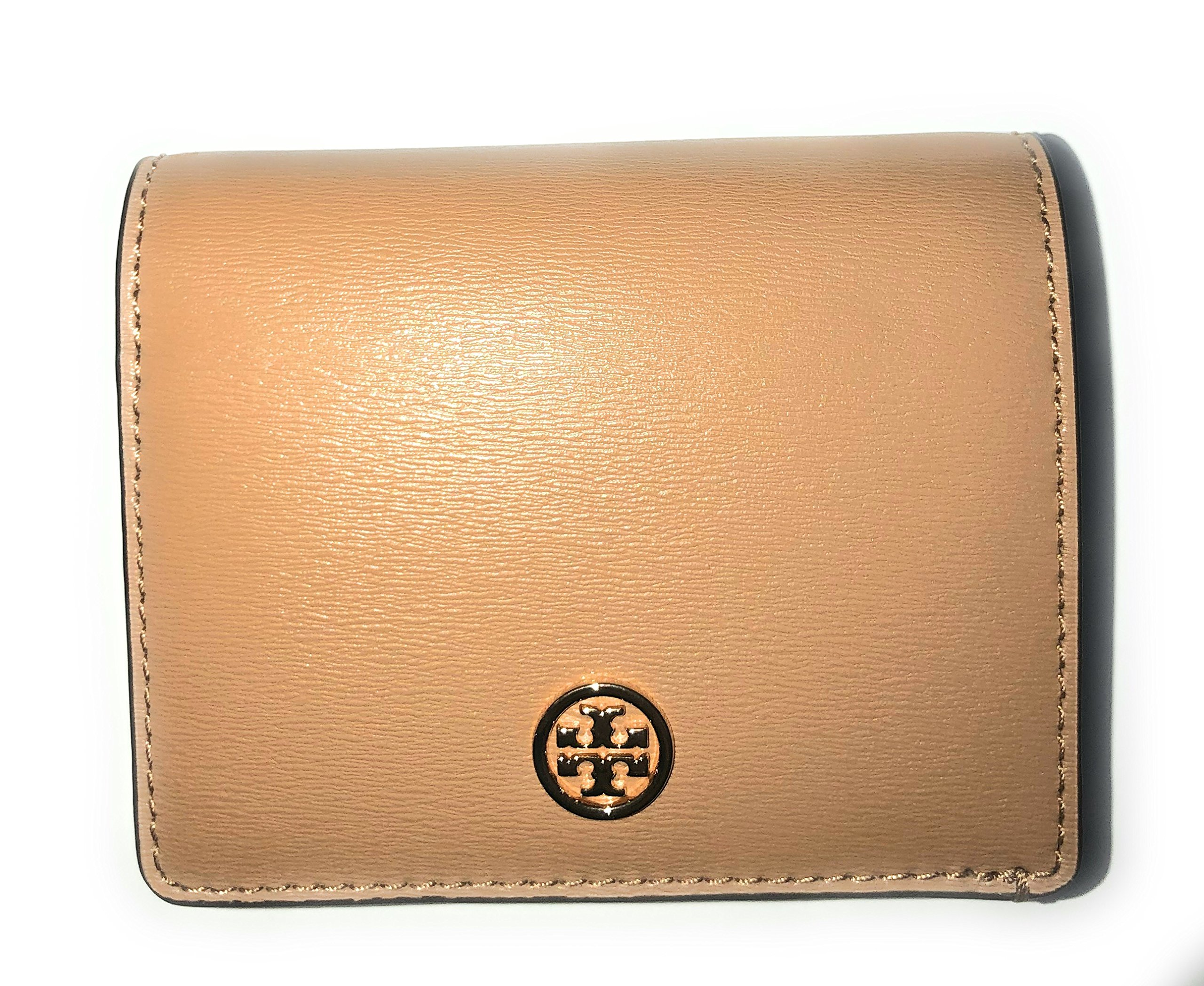 Tory Burch Parker Foldable Mini Leather Wallet in Black (Cardamom) by Tory Burch