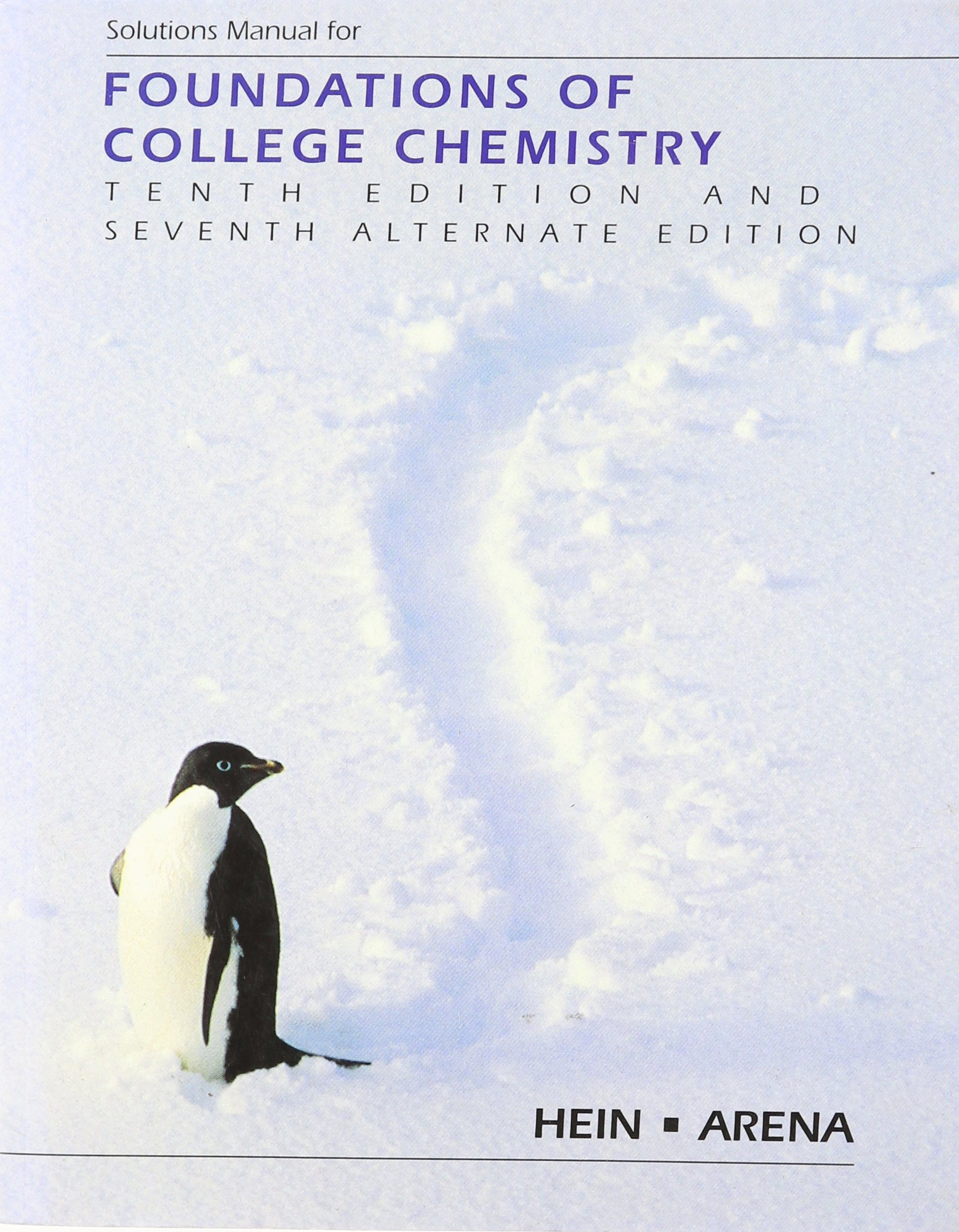 Solutions Manual for Foundations of College Chemistry: Amazon.ca: Morris  Hein, Susan Arena: Books