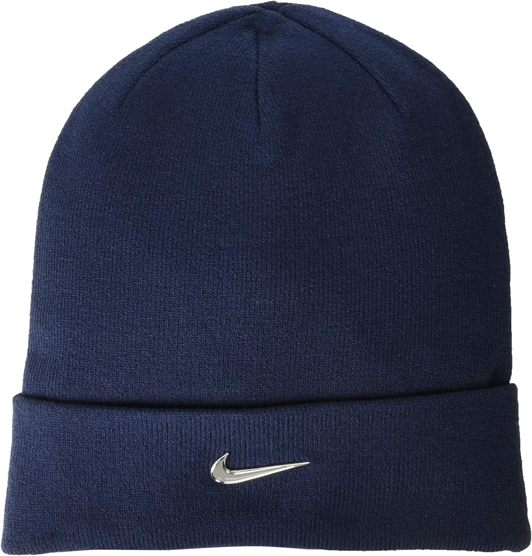 Nike Y Nk Beanie Metal Swoosh Gorra, Hombre, Azul (Obsidian ...