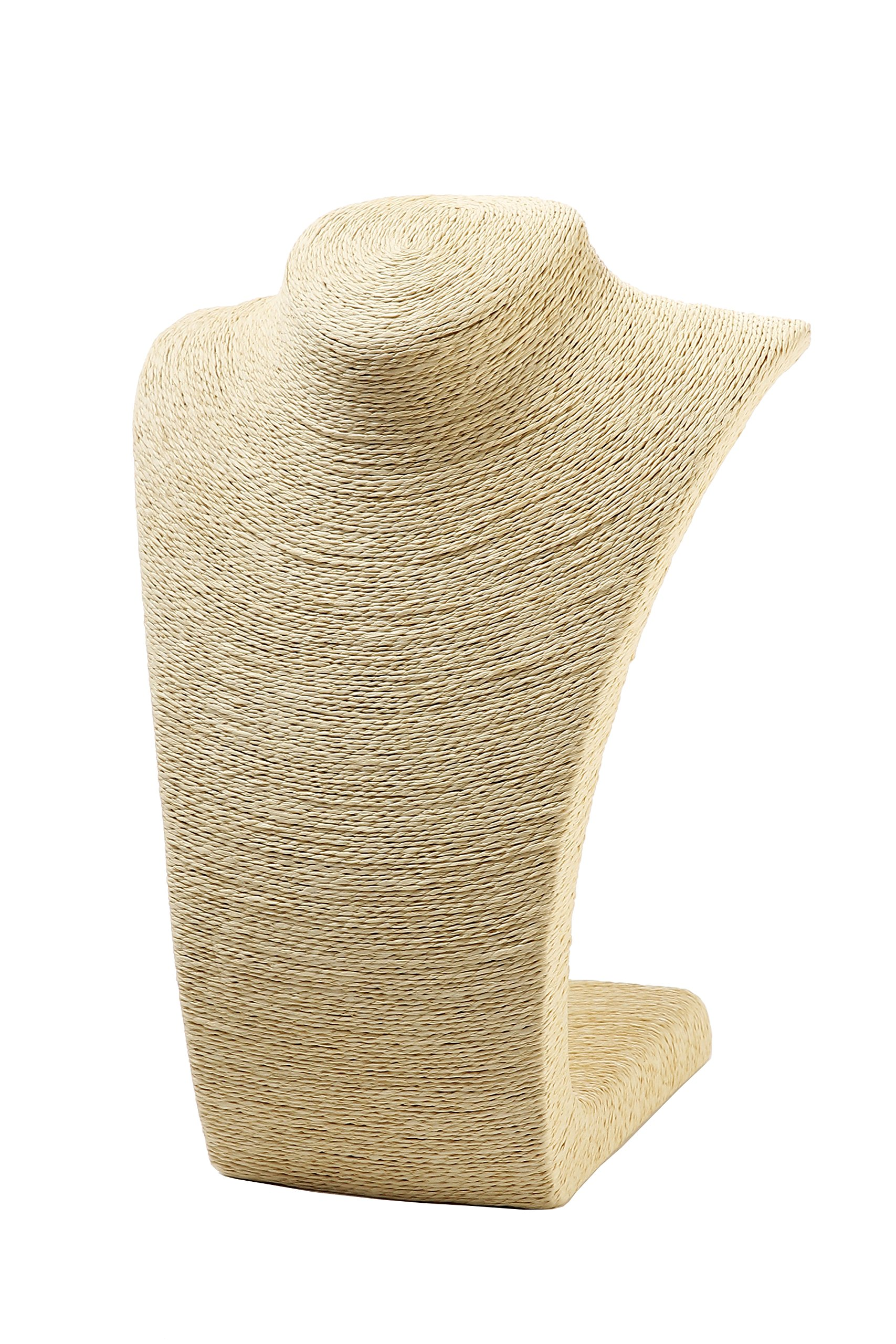 Juvale Beige Burlap Necklace Stand Display Bust For