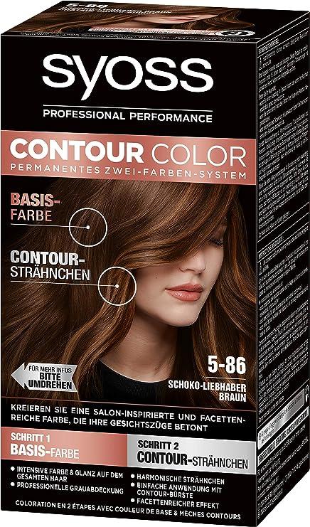 SYOSS Contour Color Nivel 3 5-86 - Amantes del chocolate (183 ml), color marrón