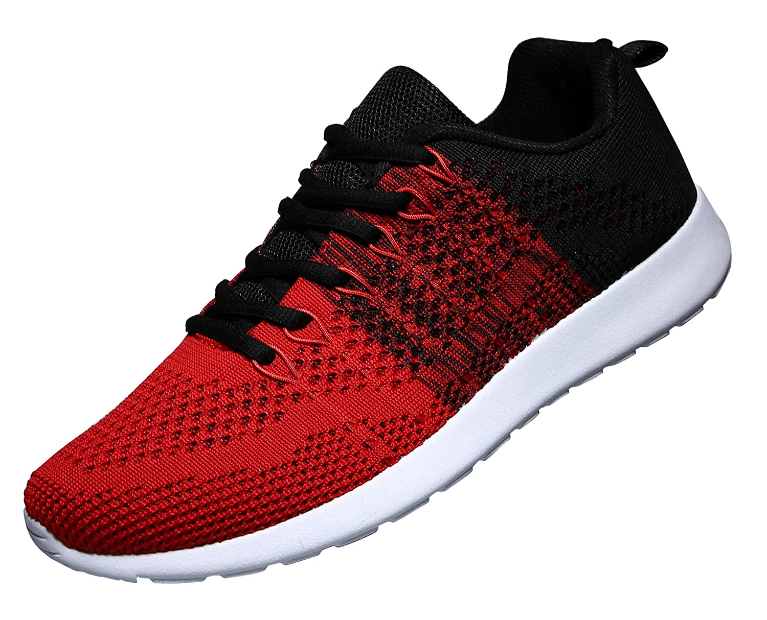 WELMEE Men's Knit Breathable Casual Sneakers Lightweight Athletic Tennis Walking Running Shoes 003