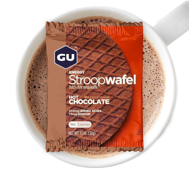 GU Energy Gofre de Chocolate Negro - Paquete de 16 x 32 gr ...