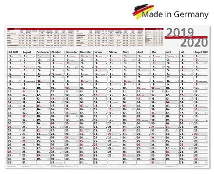 Agenda escolar 2019/20 en formato 100 x 70 cm, calendario de año ...