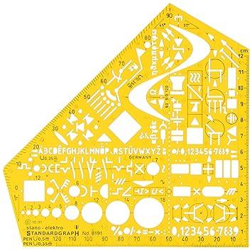 Standardgraph 8191 Schablone Stano-Winkel, 155 x 155 x 1,3 mm ...