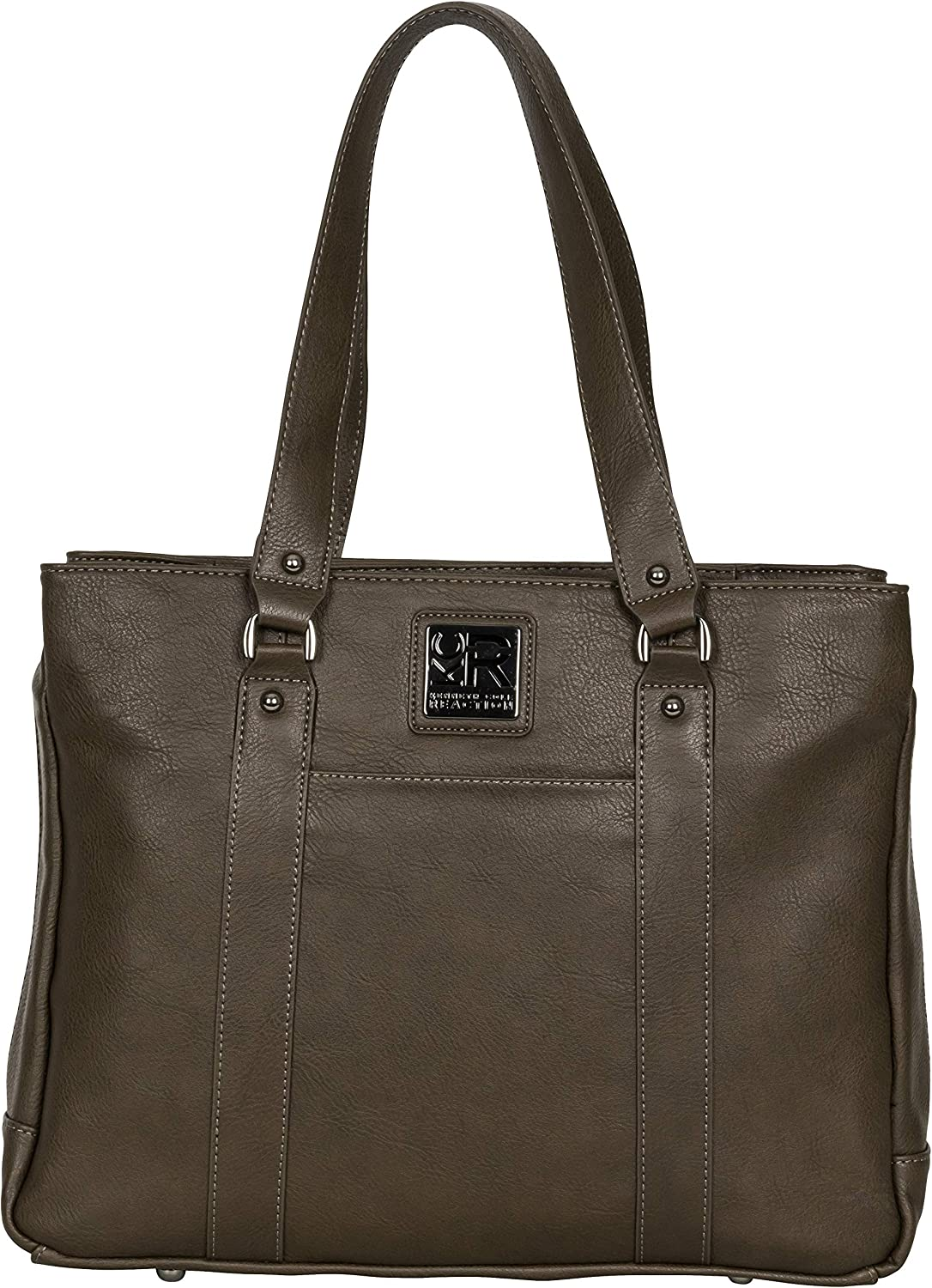 """Kenneth Cole Reaction Women's Hit Pebbled Faux Leather Triple Compartment 15"""" Laptop Business Tote, One Size"""