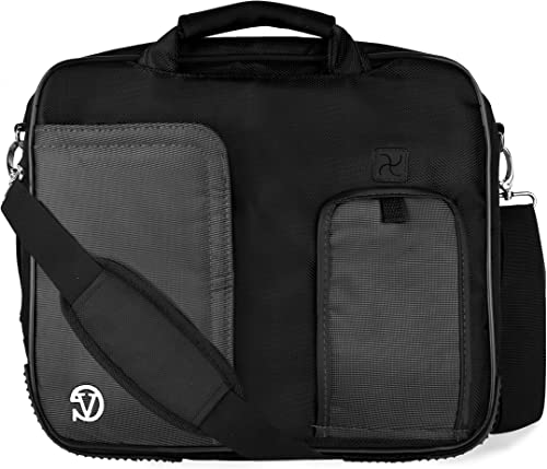 VanGoddy Pindar Messenger Shoulder Bag Case for Toshiba 15.6 inch Laptops, Dark Knight Black
