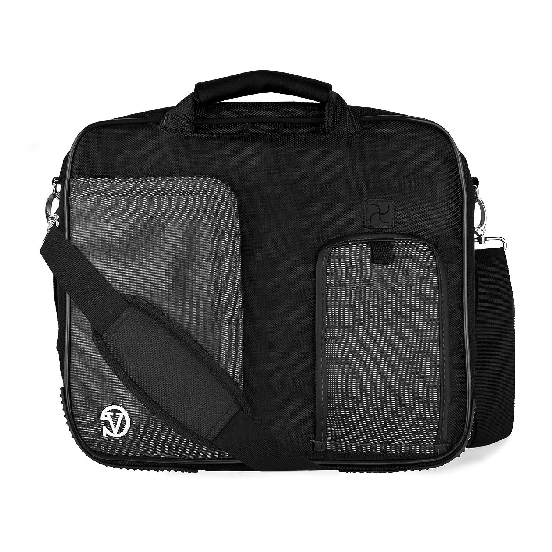 VanGoddy PindarメッセンジャーCarrying Bag for WinBook tw100 10.1インチWindowsタブレット(ブラック)   B00RYA8T4I