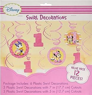 Amazoncom Amscan Disney Baby Minnie Mouse 1st Birthday Scene