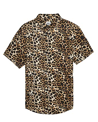 471532be8833 Zara Men Leopard Print Shirt 7545/423 at Amazon Men's Clothing store: