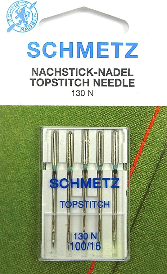 Schetz - Juego de 5 agujas para máquina de coser (grosor 100 ...