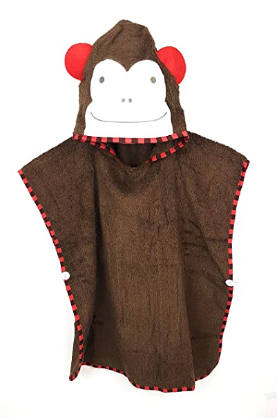 Schlupfi Niños y Niñas – Poncho de baño de algodón con Capucha: Diseño de Animales