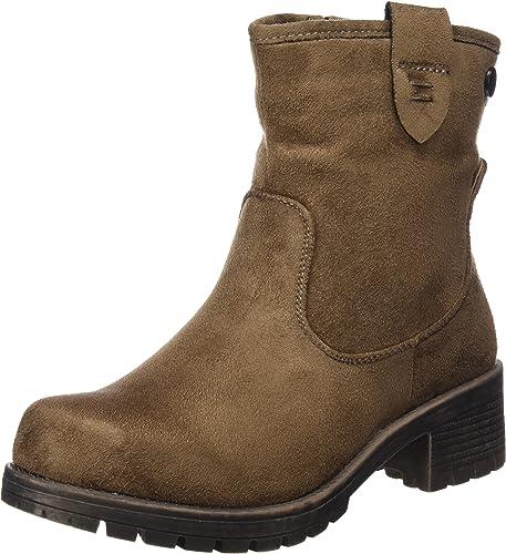XTI Bota Sra. Antelina Gris, Zapatos de tacón con Punta Cerrada para Mujer